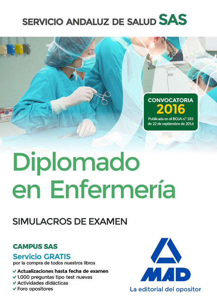 Diplomado enfermeria servicio andaluz salud simulacro exame