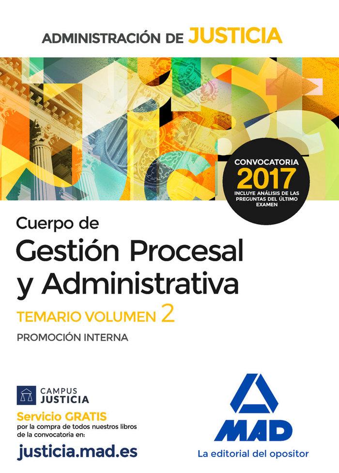 Cuerpo gestion procesal y administrativa vol 2
