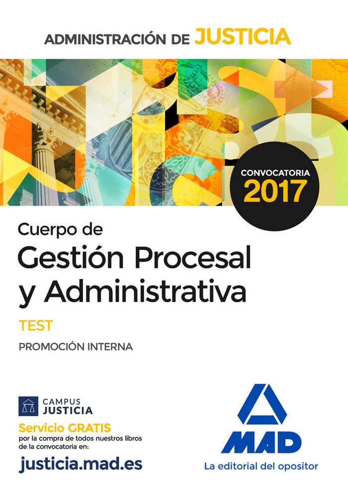Cuerpo gestion procesal y administrativa test