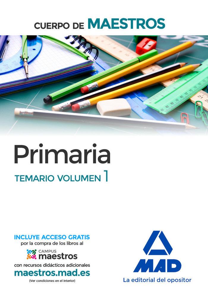 Cuerpo de maestros primaria temario volumen 1