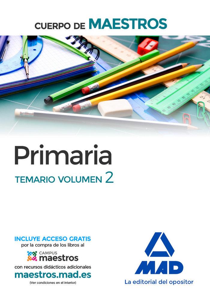 Cuerpo de maestros primaria temario volumen 2