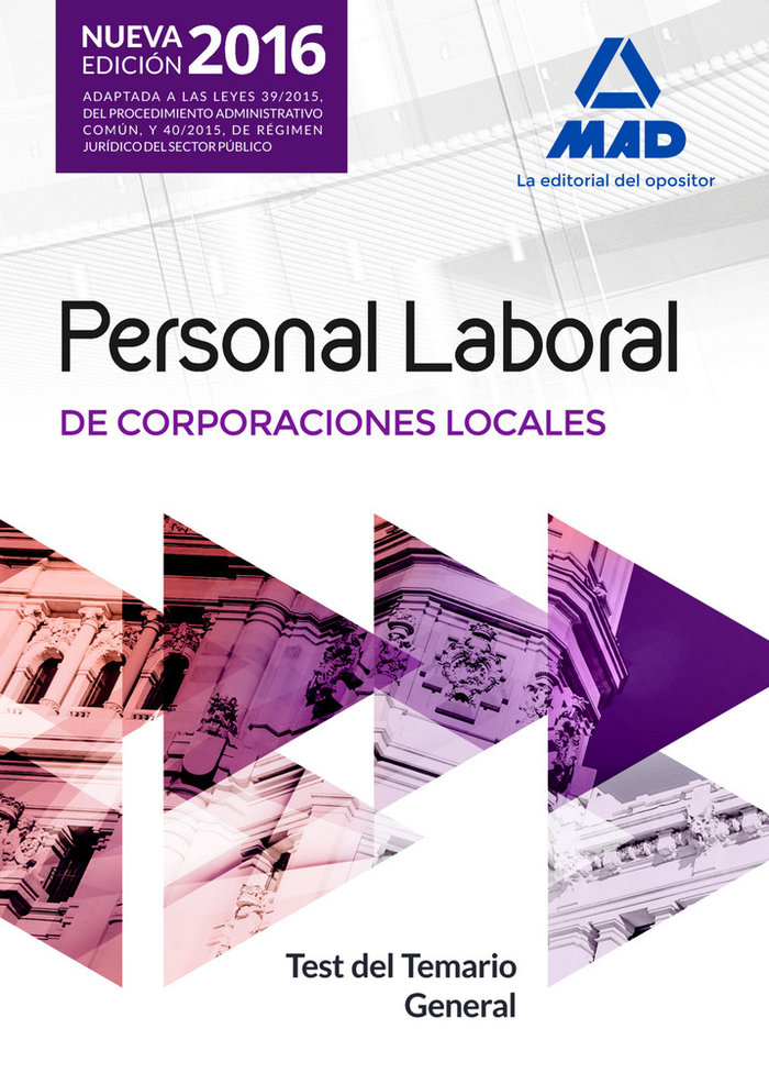Personal laboral de corporaciones locales. test del temario