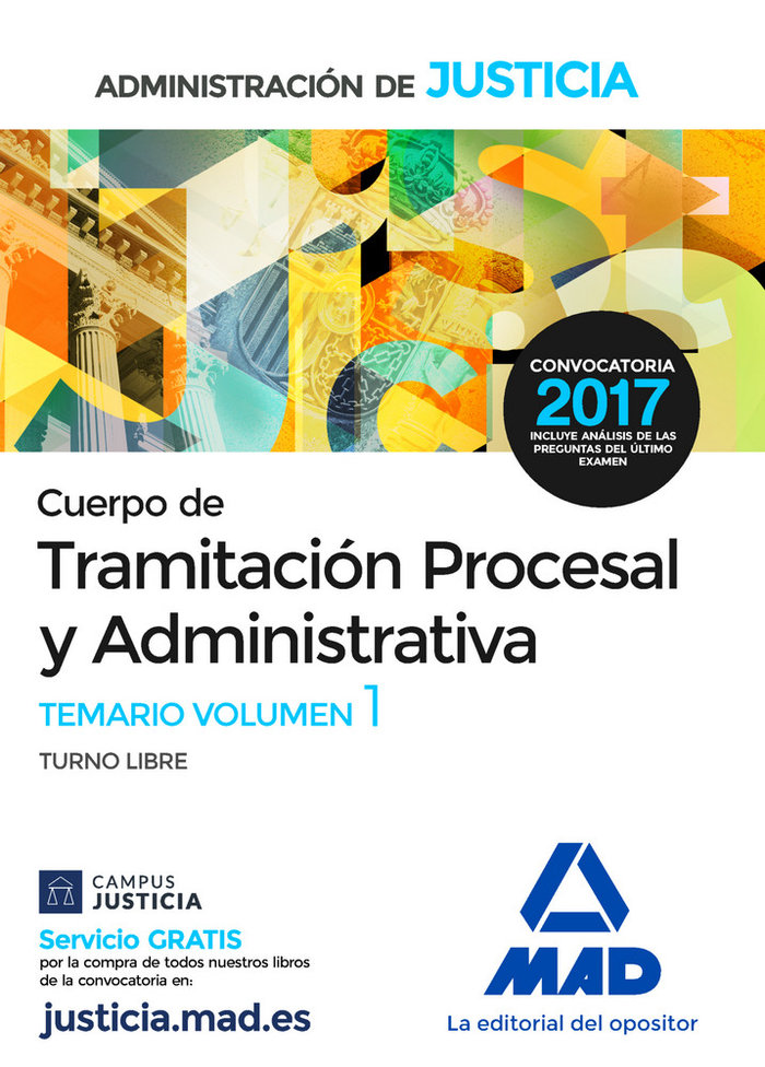 Cuerpo tramitacion procesal y administrativa libre vol 1