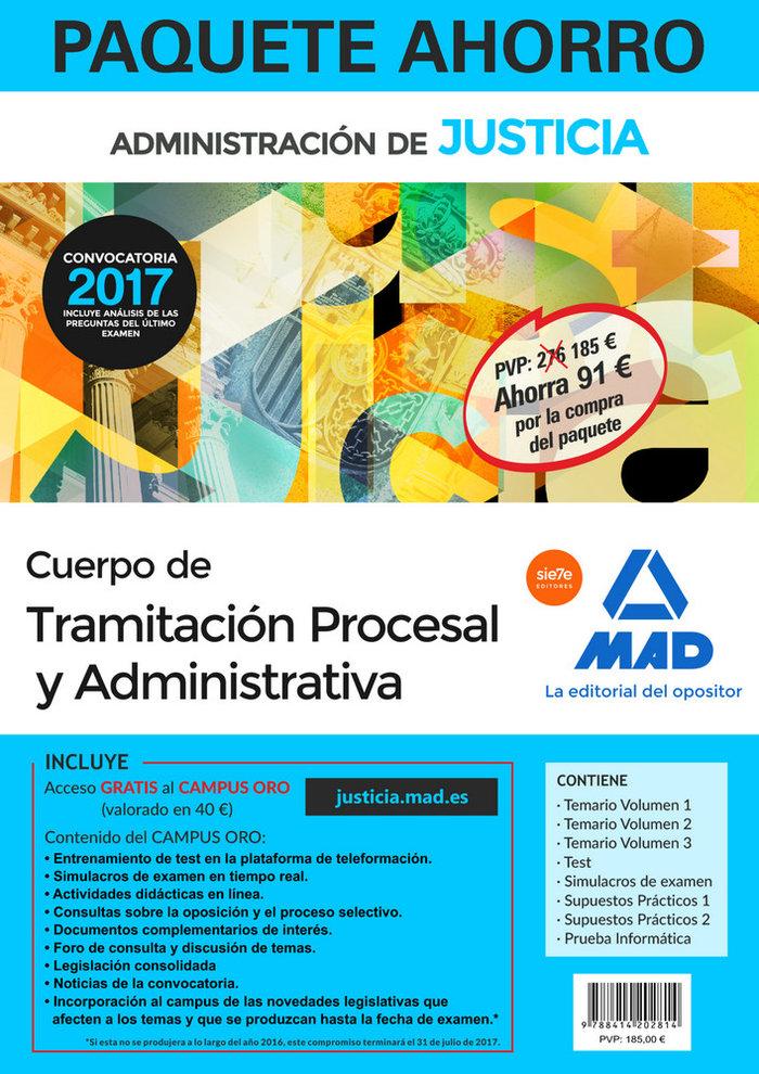 Paquete ahorro tramitacion procesal y administrativa libre