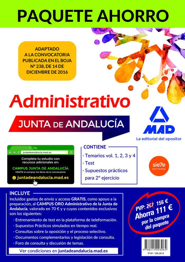 Paquete ahorro administrativo junta andalucia turno libre