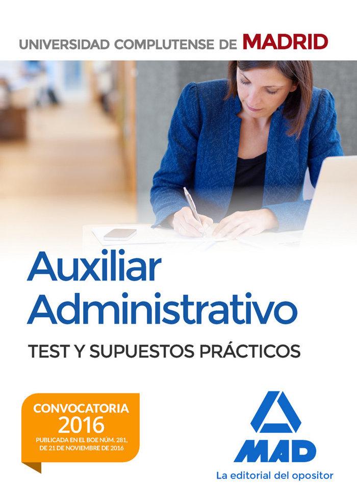 Auxiliar administrativo complutense madrid test y sp