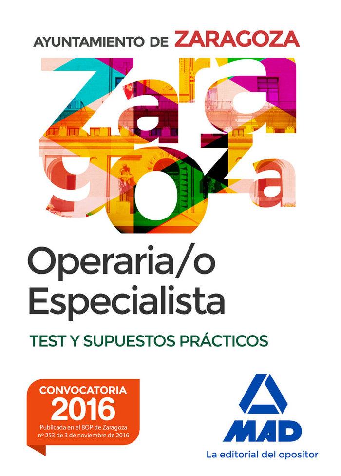 Operario/a especialista del ayuntamiento de zaragoza. test y