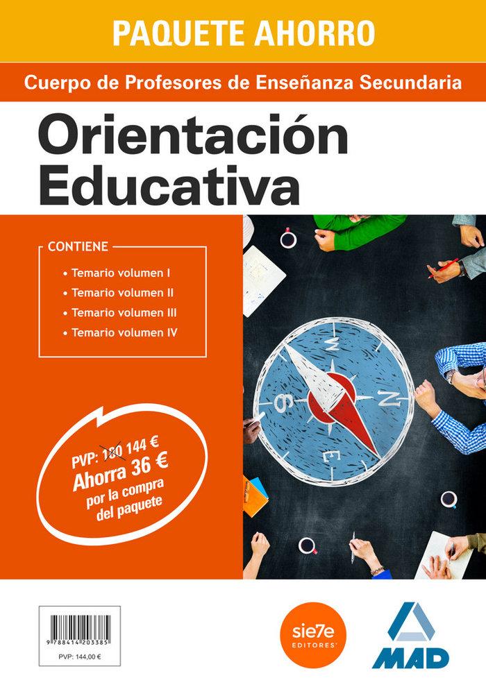 Paquete ahorro orientacion educativa cuerpo de profesores de