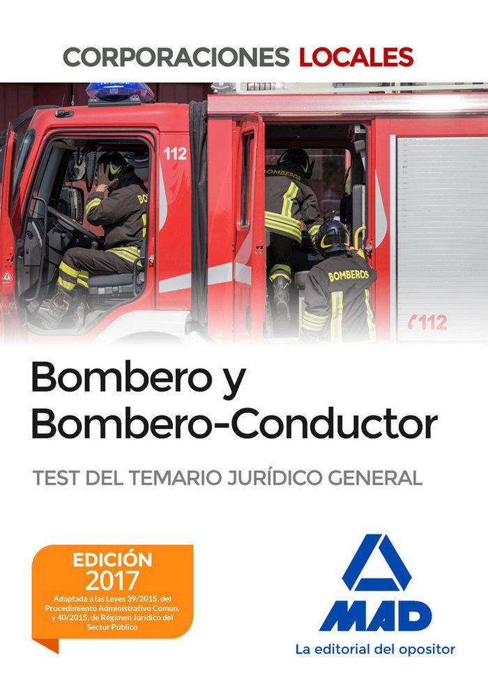 Bombero y bombero-conductor. test del temario juridico gener