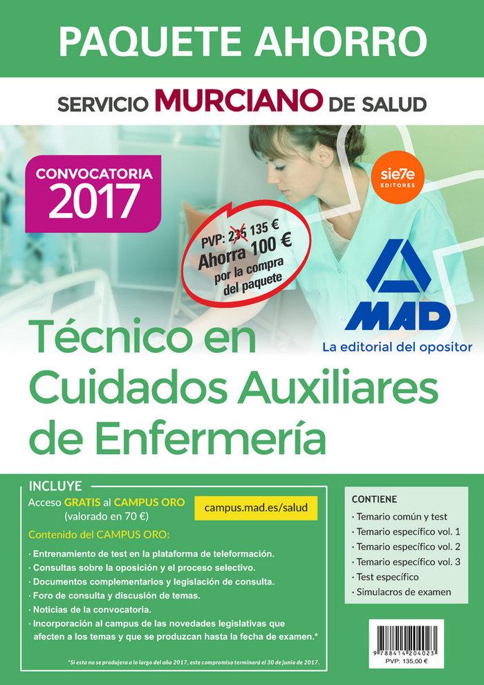 Paquete ahorro tecnico en cuidados auxiliares de enfermeria