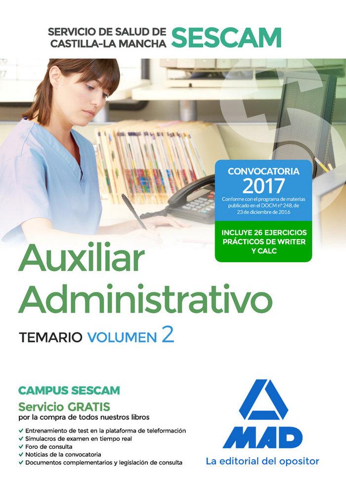 Auxiliar administrativo servicio salud castilla la mancha