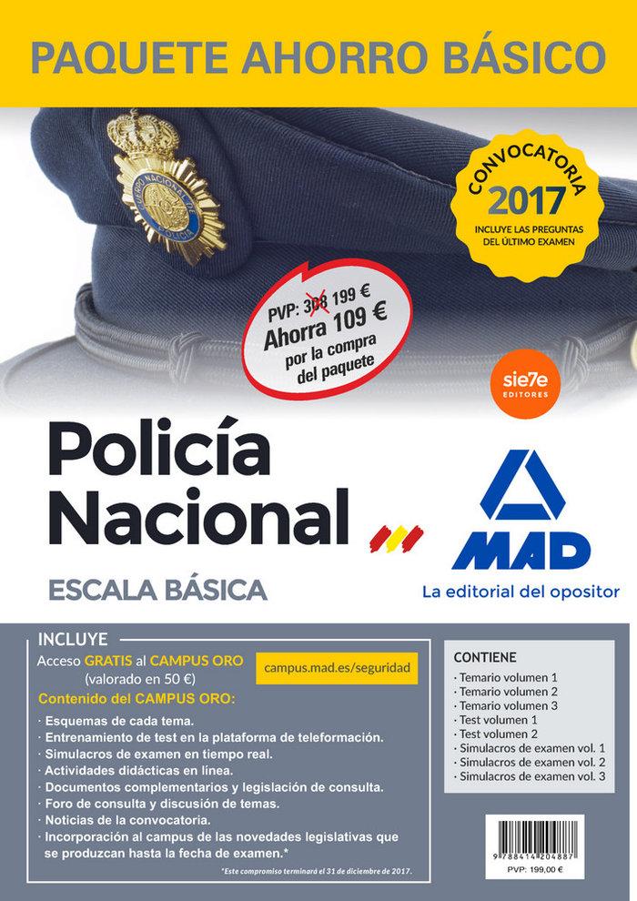 Paquete ahorro basico escala basica policia nacional