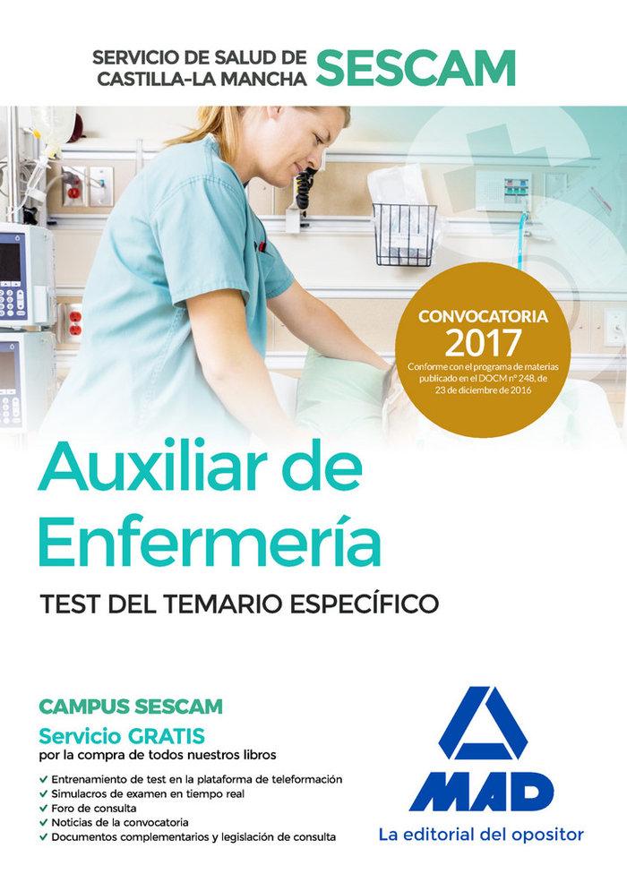 Auxiliar enfermeria servicio salud castilla la mancha test
