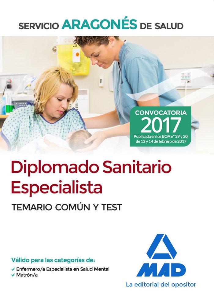 Diplomado sanitario especialista del servicio aragones de sa