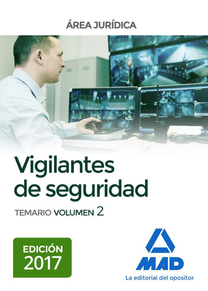 Vigilantes de seguridad, area juridica. temario volumen 2