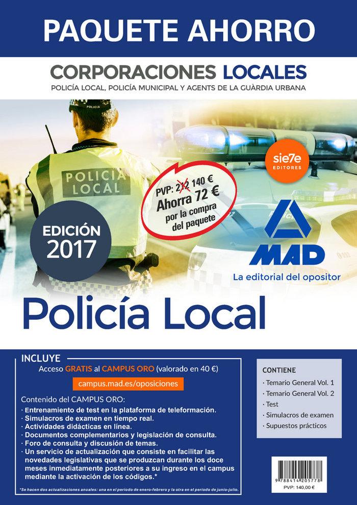Paquete ahorro policia local de corporaciones locales