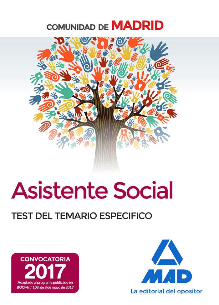 Asistentes sociales de la comunidad de madrid test del temar