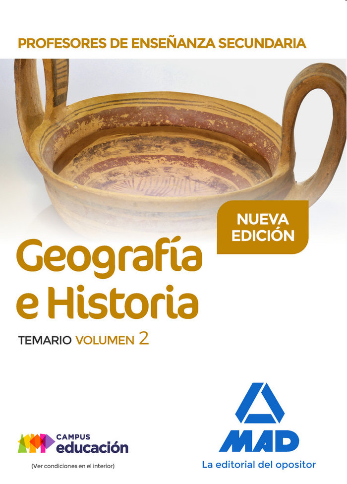 Profesor enseñanza secundaria geografia e historia vol 2