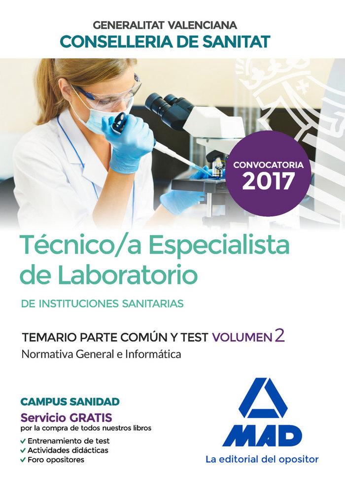 Temario parte comun y test vol 2 tecnico/a especialista de l