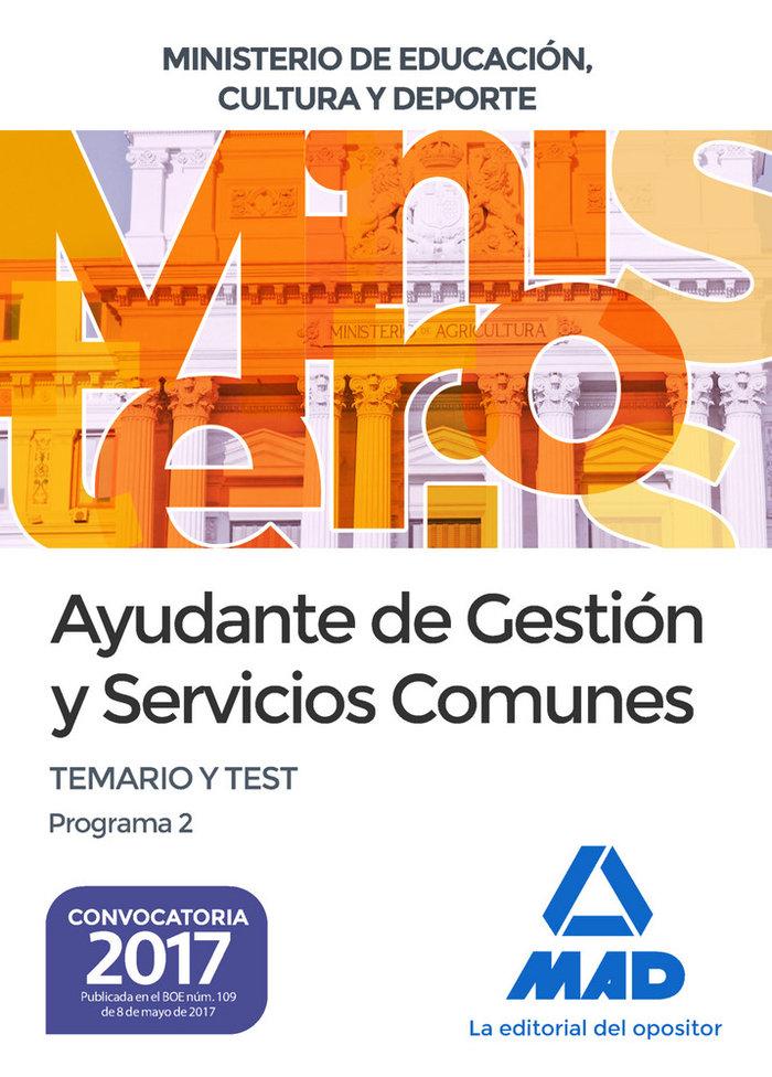 Ayudante gestion y servicios comunes ministerio temario 2