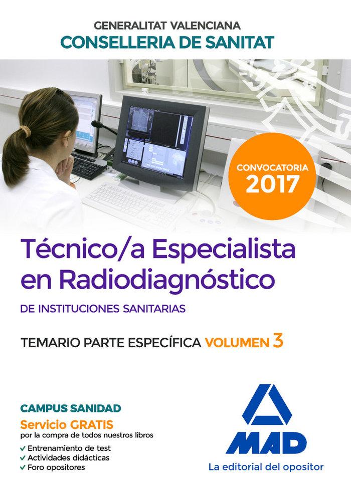 Tecnico/a especialista en radiodiagnostico de instituciones