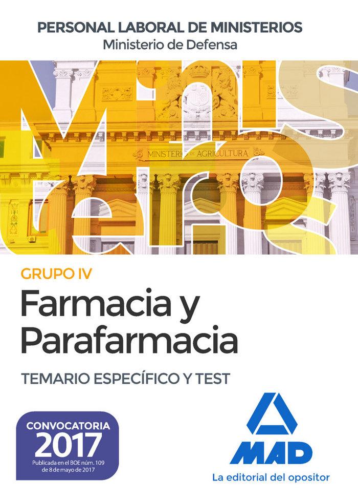 Farmacia y parafarmacia m.defensa especifico y test 17