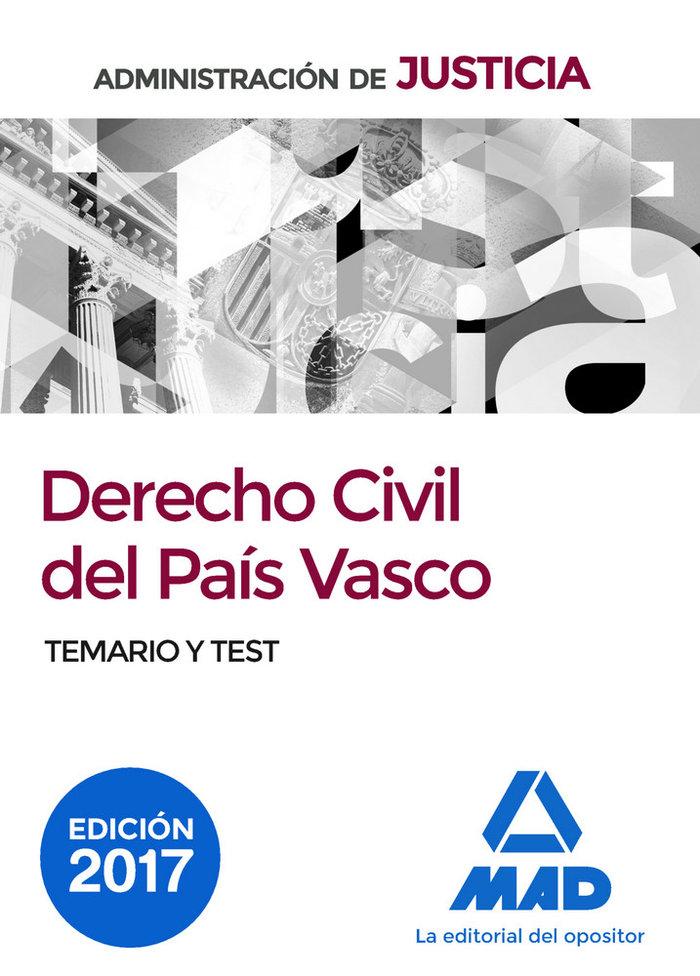 Derecho civil pais vasco oposiciones justicia temario test