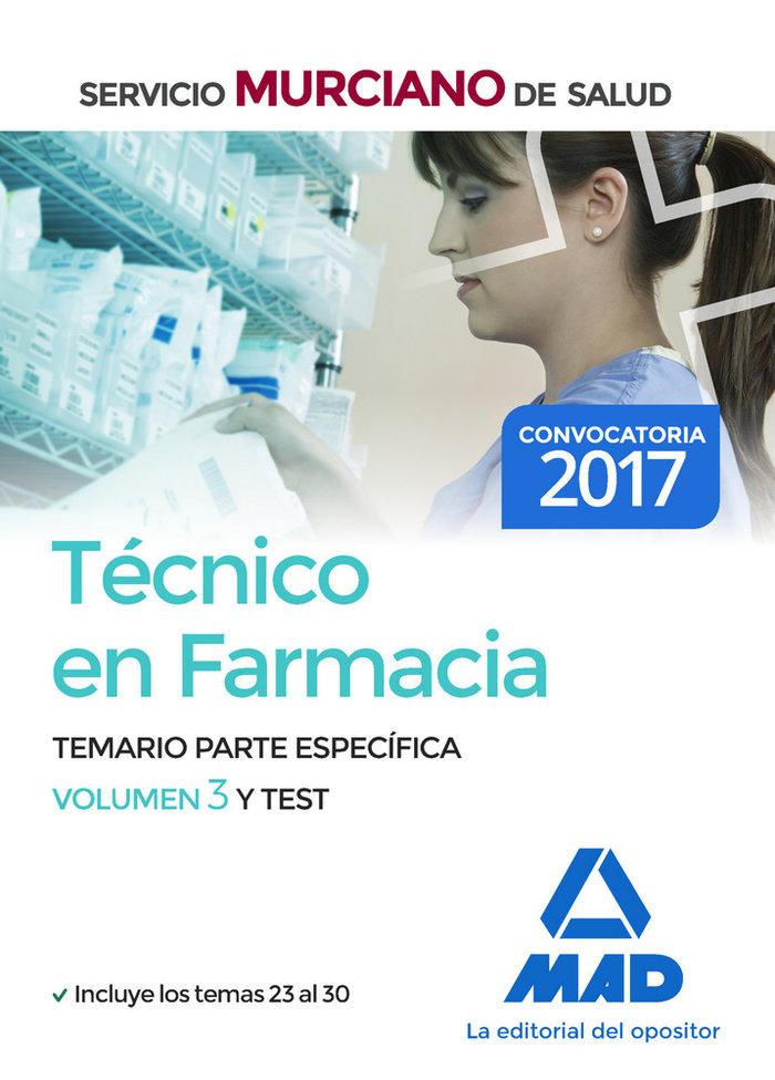 Tecnico en farmacia del servicio murciano de salud. temario
