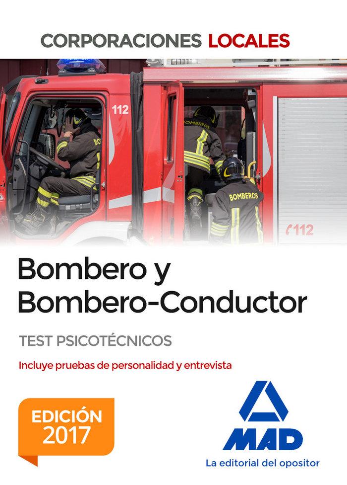Bombero y bombero conductor test psicotecnicos ed. 2017