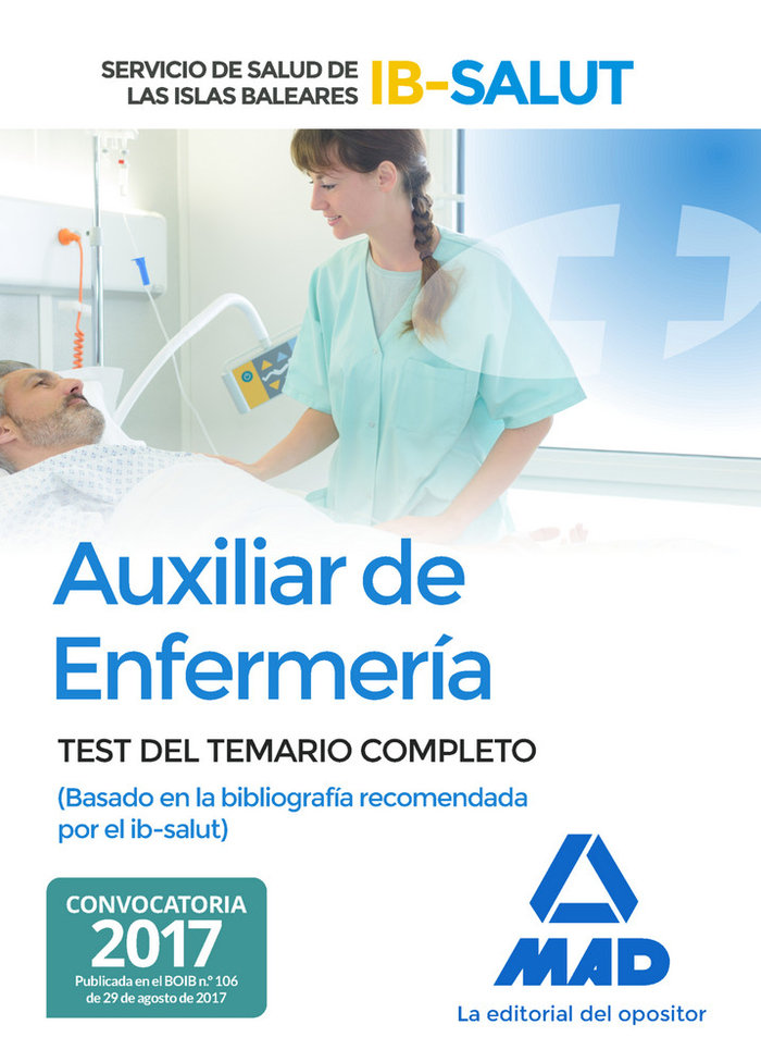 Auxiliar de enfermeria test ibsalut 2017