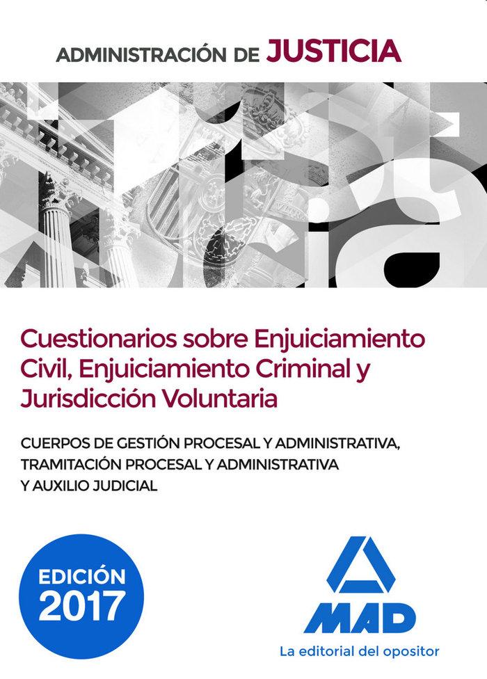 Administracion de justicia cuestionarios sobre enjuiciamient