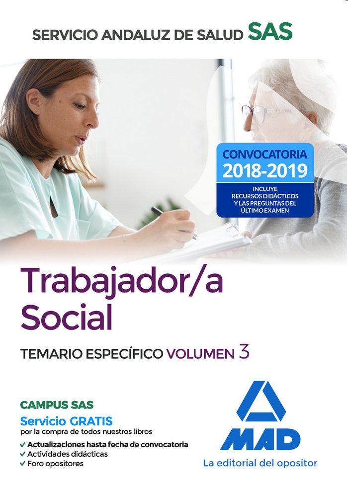 Trabajador/a social servicio andaluz salud temario vol 3