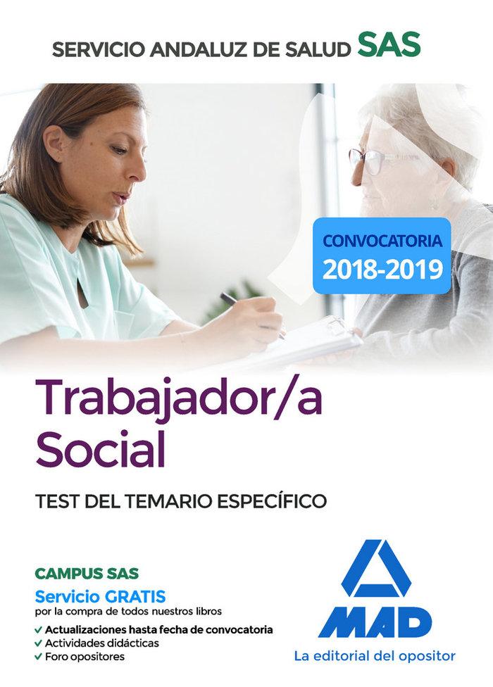 Trabajador/a social test del temario especifico sas