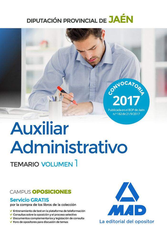 Auxiliar administrativo 2017 diputacion jaen vol 1