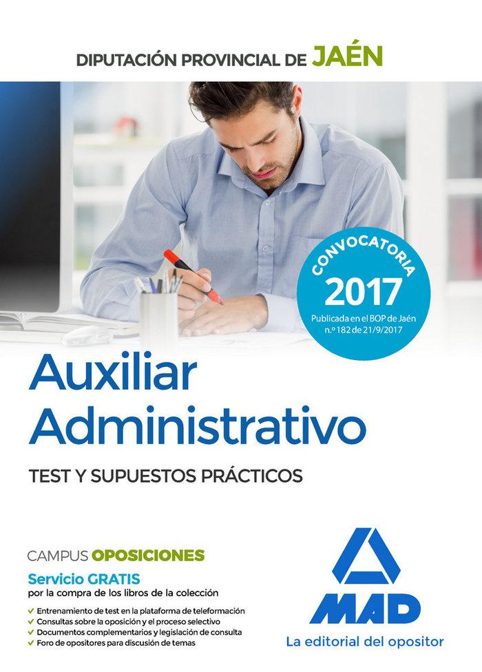 Auxiliar administrativo diputacion jaen test y supuestos