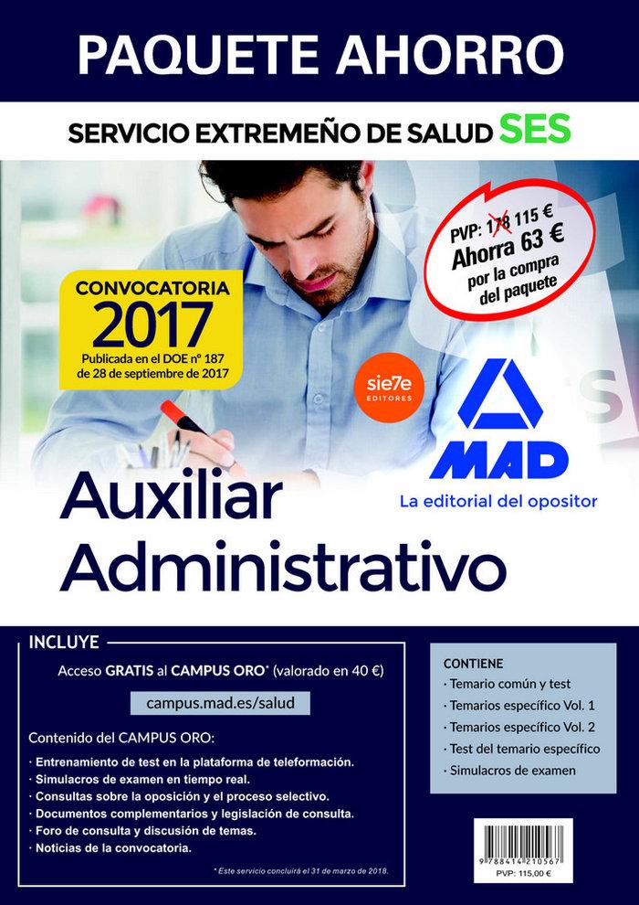 Auxiliar administrativo ses 2017 pack ahorro