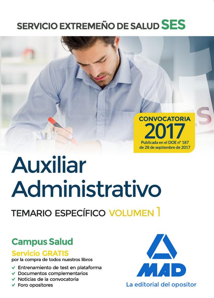 Auxiliar administrativo ses 2017 temario especifico 1