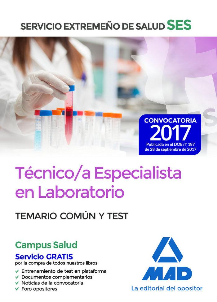 Tecnico/a especialista en laboratorio ses 2017