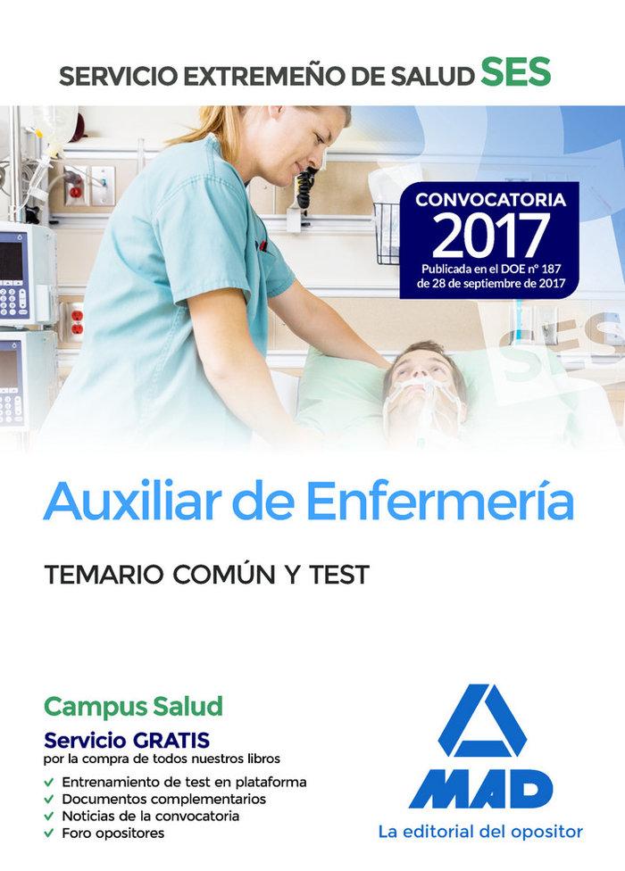 Auxiliar de enfermeria ses 2017 temario comun y test