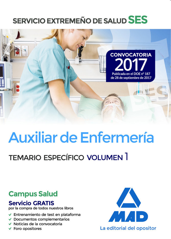Auxiliar enfermeria ses 2017 vol 1 especifico