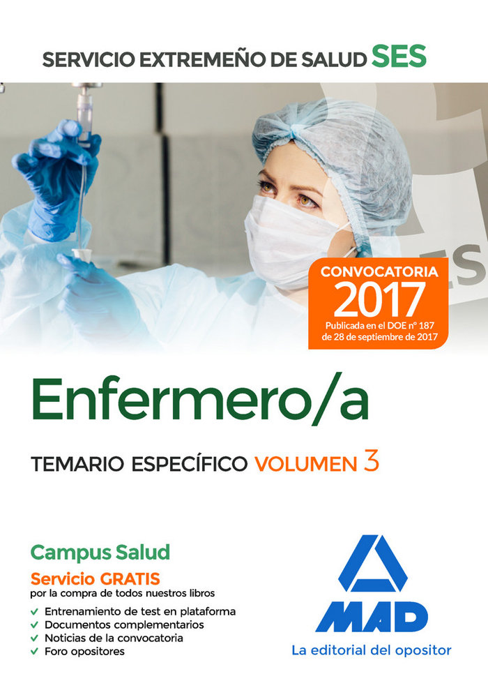 Enfermero/a ses 2017 temario especifico volumen iii