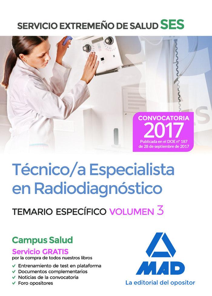 Tecnico/a esp en radiodiagnostico ses 2017 especifico iii