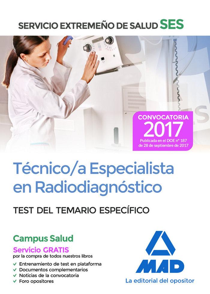 Tecnico/a esp en radiodiagnostico ses 2017 test especificos