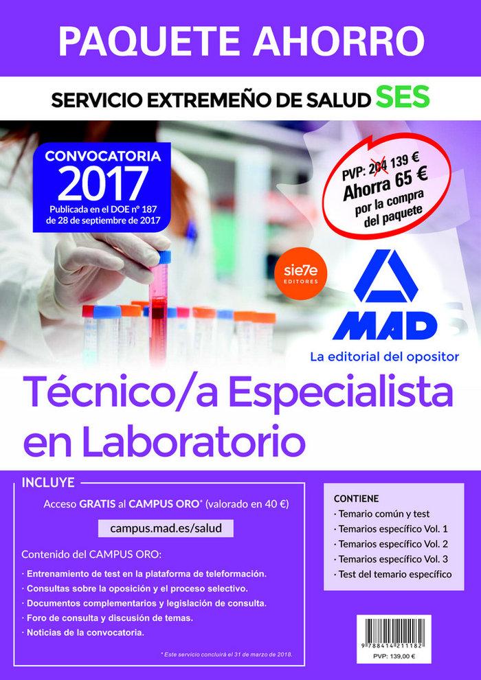 Tecnico especialista en laboratorio ses 2017 paquete ahorro