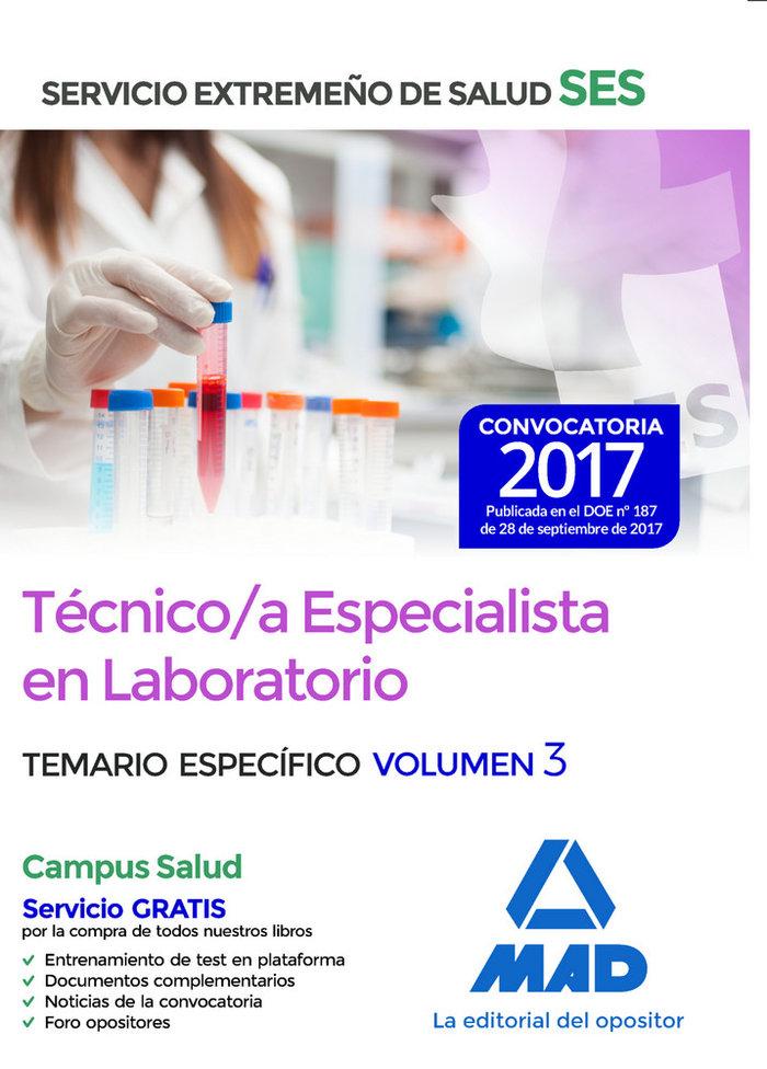 Tecnico/a especialista laboratorio ses 2017 especifico iii