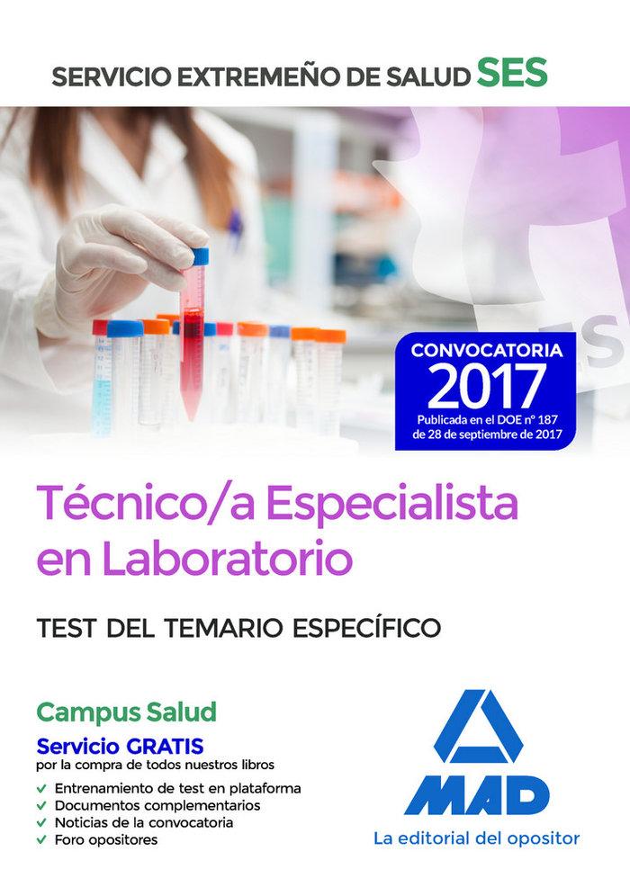 Tecnico/a especialista laboratorio ses 2017 test especifico