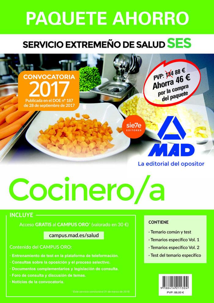 Cocinero/a ses 2017 paquete ahorro