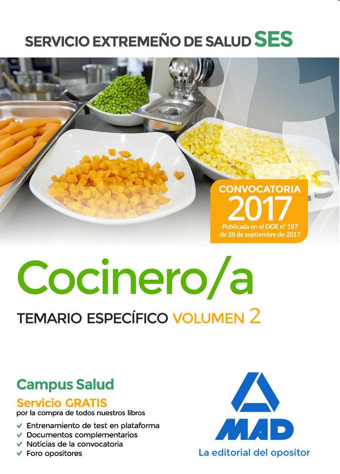 Cocinero/a ses 2017 temario especifico vol 2