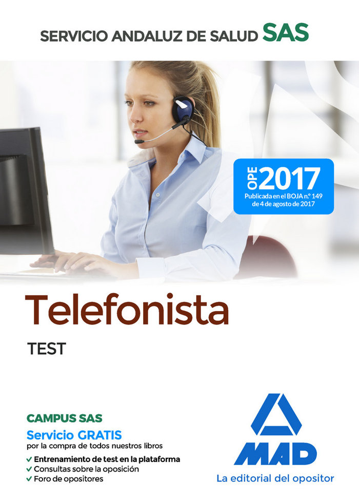 Telefonista del servicio andaluz de salud test
