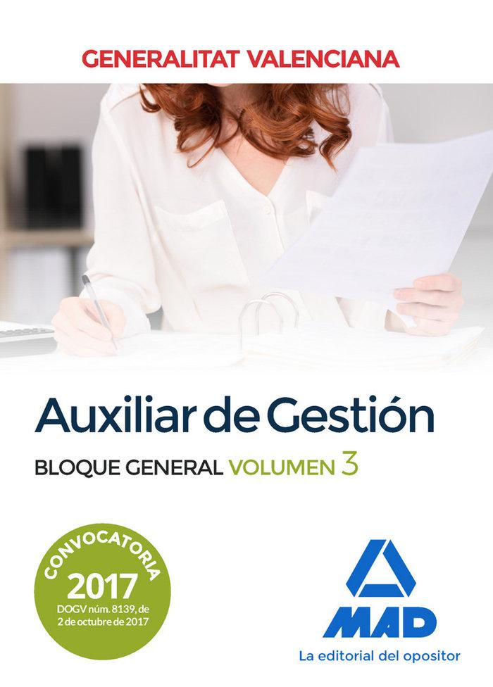 Auxiliar de gestion de la generalitat valenciana. bloque gen